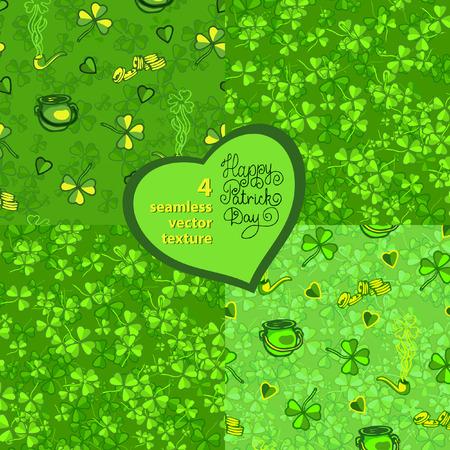 seamless pattern with clover leaves to the st. patrick`s day Vector