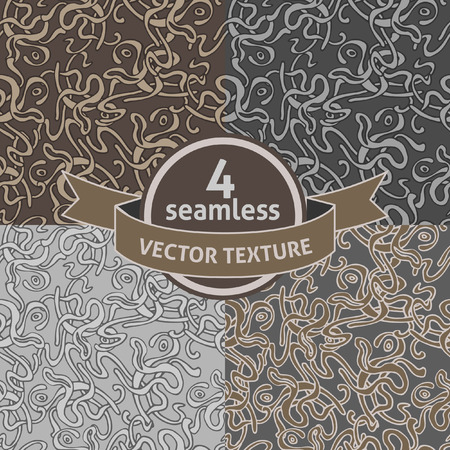 Set of 4 seamless tortuous background.