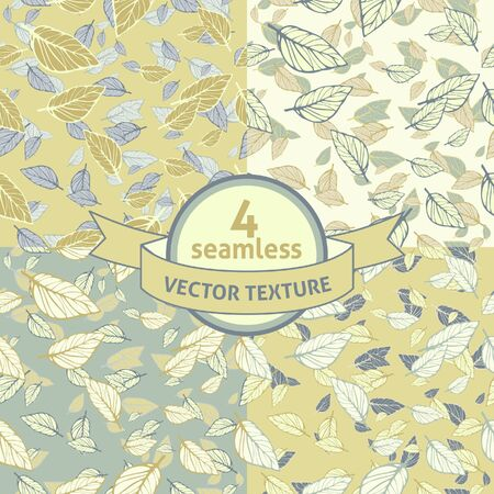 leafy: Set of 4 seamless vector leafy texture