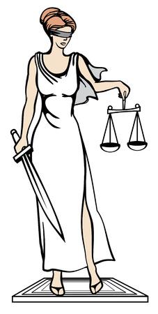 vector illustration Femida - goddess of justice.