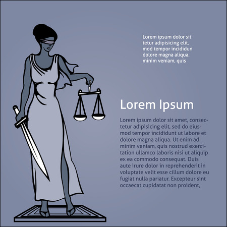 roman blind: vector illustration Femida - goddess of justice.