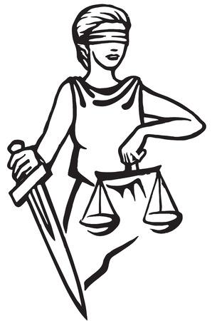 femida: Themis - goddess of justice.Vector illustration.  Femida Illustration