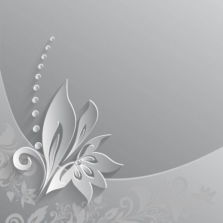 paper cut out: Background with paper cut out floral element