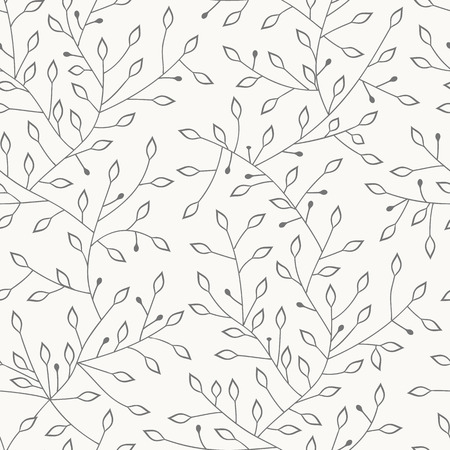 Vector seamless pattern. Hand drawn floral texture. Illustration