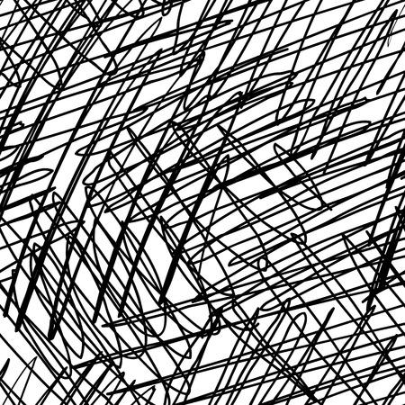シームレスなインクの手描き落書きテクスチャ、抽象的なグラフィック デザイン。