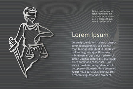 blind woman: Themis (Femida) - goddess of justice.Vector illustration.