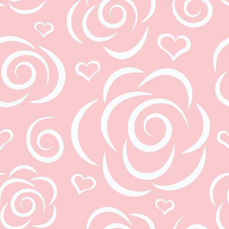abstract rose: abstract floral vector graphic seamless background with roses. Eps-8