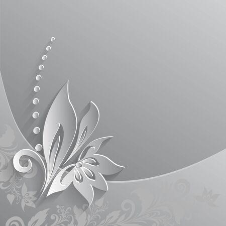 paper cut out floral element, Eps- Stock Photo