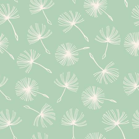 Seamless doodle dandelion Vintage background.. Eps-8 Ilustrace