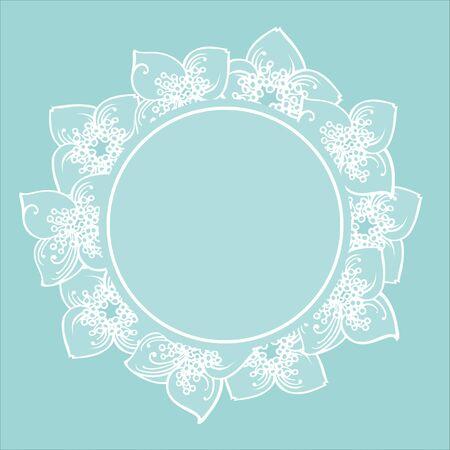 Der Rahmen von Hand gezeichneten Jasminblüten. Eps-8 Vektorgrafik