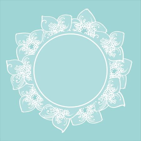 Le cadre de fleurs de jasmin dessinés à la main. Eps-8 Vecteurs