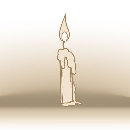 simple linear illustration of candle. Eps-10 Illustration