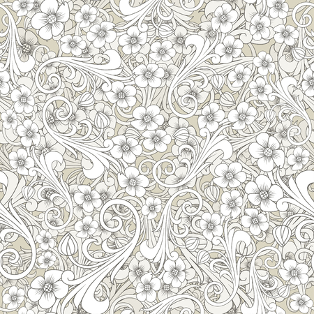 Seamless abstract pattern. Orient or russia design. luxury ornamentation, wallpaper, floral wrapping paper, swatch fabric for decoration and design. seamless paisley pattern. illustration.