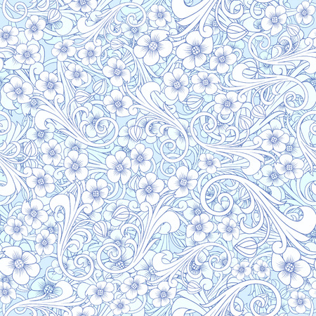 Seamless abstract blue pattern. Orient or russia design. luxury ornamentation, floral wrapping wallpaper, swatch fabric for decoration and design. seamless paisley attern.