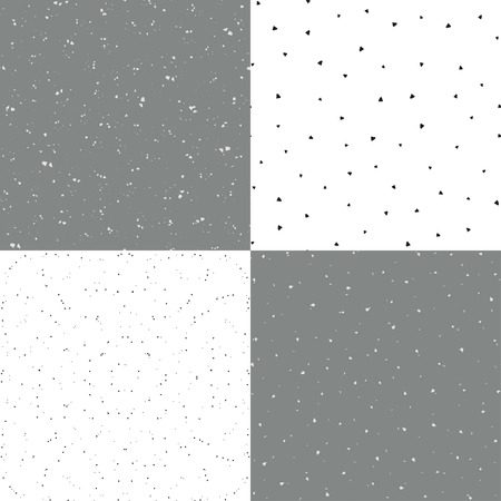 squiggles: Set of 4Set of 4 black and whitecoating with scratches and rubs vector seamless vintage texture, imitating an old coating with scratches and rubs. Eps-8. Illustration