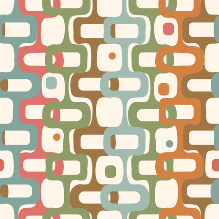 Vector abstract seamless vintage geometry background.
