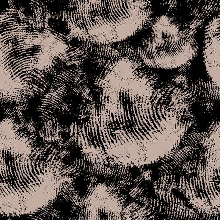 Texture transparente de vecteur avec empreintes digitales. En fait, en arrière-plan des thèmes de la criminalistique, des empreintes digitales, des détectives.