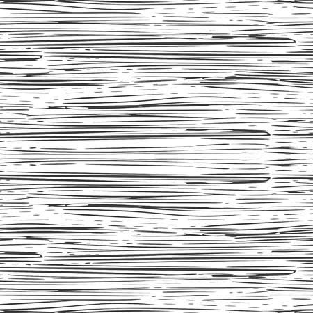 Trazos de tinta irregular abstracto fondo rayado. Patrón sin costuras. Vector.