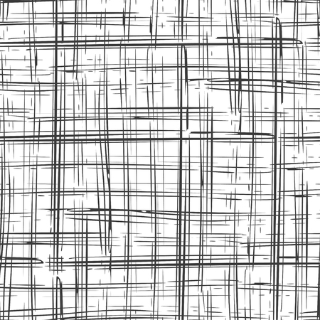 Abstract irregular ink strokes striped background. Seamless pattern. Vector.
