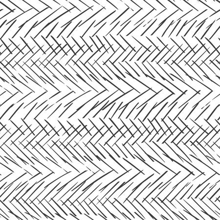 Monochrome striped lines background. Zig zag seamless vector pattern. Herringbone monochrome texture Illustration