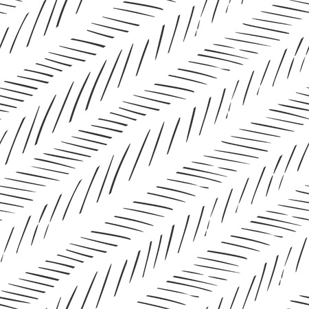 Monochrome striped lines background. Herringbone monochrome texture. Seamless hand drawn vector pattern.