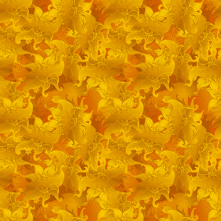 Seamless summer wallpaper pattern gold, vector. Eps 10.