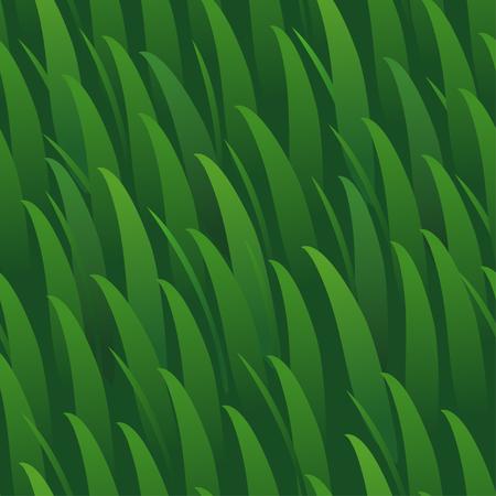 Vector seamless cartoon grass green