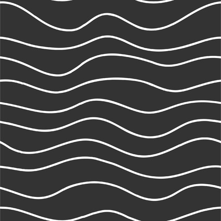 Seamless texture with horizontal waves. Vector background. Ilustrace