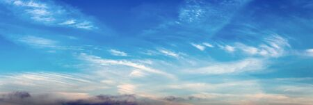 Morning sky with high cirrus clouds