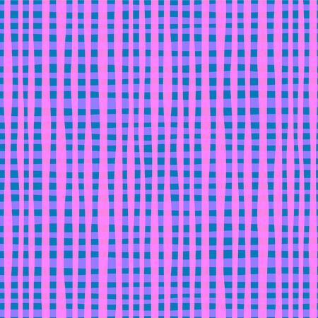 Vector image of curvy pink-blue squares. Seamless background for design, wrapping paper and wallpaper
