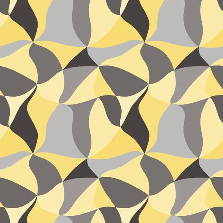 Vector black-gray-yellow abstract background from uneven triangles. Ilustração