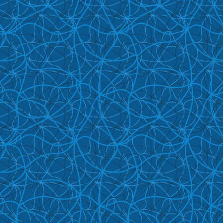 Vector abstract seamless background. Wave, water, curved lines.