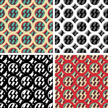 Seamless background image of vintage round geometry pattern. Иллюстрация