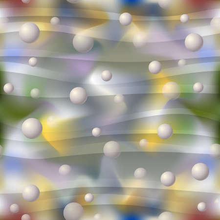 Seamless three-dimensional balls background Иллюстрация