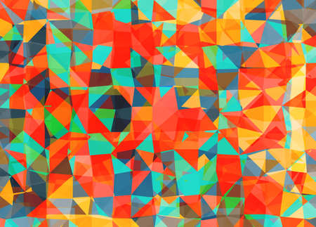 Vector triangle mosaic background with transparencies in multicolors colors