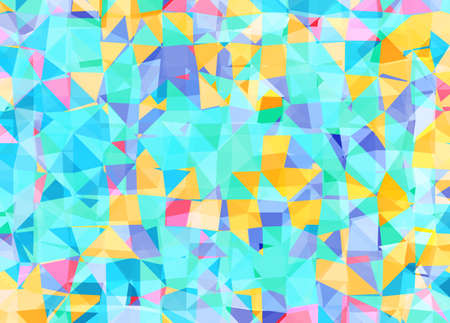 Vector triangle mosaic background with transparencies in blue and yellow colors