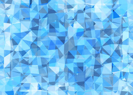 Vector triangle mosaic background with transparencies in blue colors