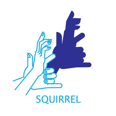 puppet: Shadow Hand Puppet Squirrel
