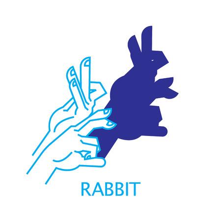 Shadow Hand Puppet Rabbit