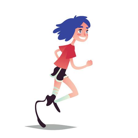 prosthetic: Prosthetic girl runner