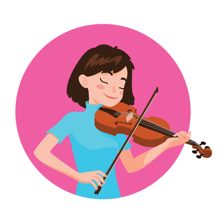 Musician playing violin Illustration