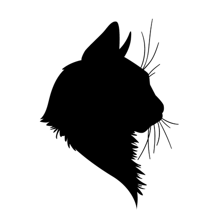 Cat head silhouette.