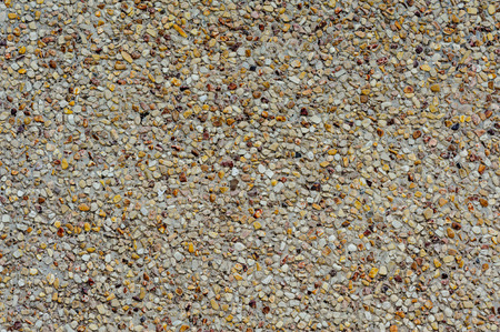 concrete surface finishing: exposed aggregate finish on the floor