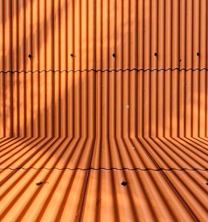 metal sheet: Orange metal sheet roof background