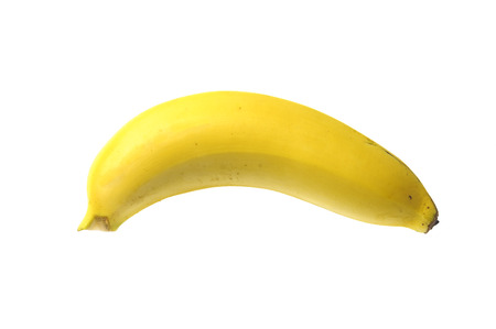 riped: One piece of riped banana isolate on white