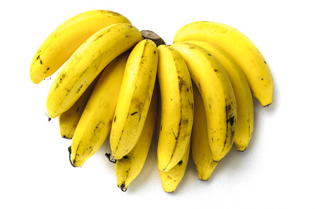 riped: Riped several piece of banana isolate on white