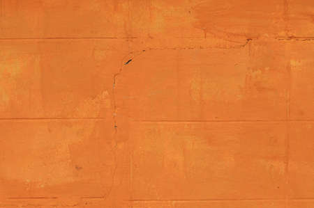 wall paint: Crack Brick wall paint by orange color