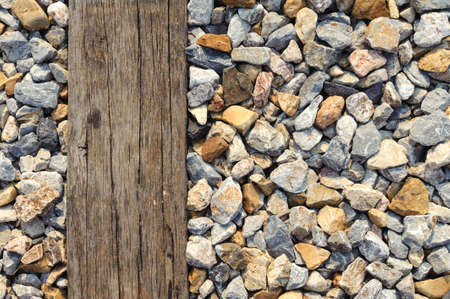 wood railway: Old grunge hard wood background from old railway Stock Photo