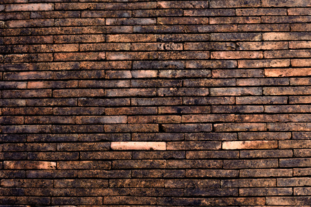 bulwark: Antique and old red brick wall texture