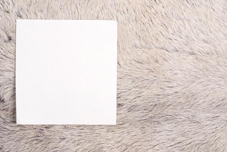 white fur: La antigua p�gina arrancada del cuaderno en la piel de la vaca de piel blanca